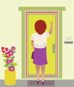 entrare in casa dell'anziano